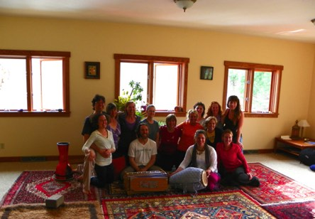 At this 3 day silent retreat, we helped bring participants back into their voices with a kirtan led by our friend Narada.