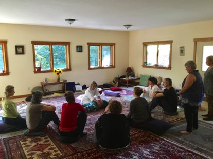 Group retreats, like our annual Breema Retreat pictured here, are rich opportunities to learn from long-time teachers. The emphasis is always on how participants can benefit from their experiences by continuing to practice in their daily lives. Life-long friends meet here.